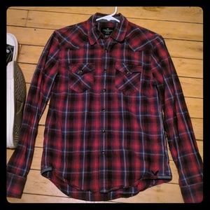 American Eagle Outfitters Snap-on-Button-down